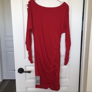 Le Chateau Red Long Sleeve Dress NWT